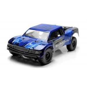 Exceed RC Trophy Truck Radio Car 1/16th Scale 2.4Ghz Max Rock 4WD Electric Remote Control 100% RTR Ready to Run w/ Waterproof Electronics (Blue)