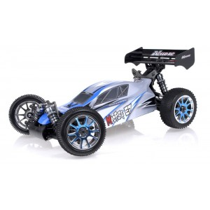 Exceed RC 1/8Th 2.4Ghz MadFire Electric Brushless Racing Edition RTR Ready to Run Buggy Alpha Blue RC Remote Control Radio Car