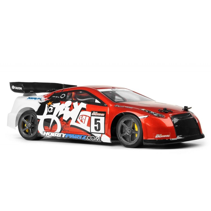 Exceed RC 1/18 Mad Pulse Brushed Race Drift Car Ready to Run (Red) RC Remote Control Radio Car