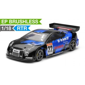 Exceed RC 1/18 Mad Pulse Brushless Drift Car Ready to Run (FireBlue) RC Remote Control Radio