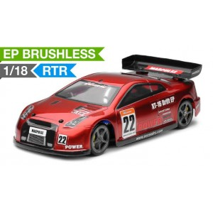 Exceed RC 1/18 Mad Pulse Brushless Drift Car Ready to Run (Red) RC Remote Control Radio