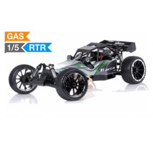 Exceed Barca Buggy 1/5 Scale Gas Powered 32cc Engine 2.4Ghz - Green - RTR