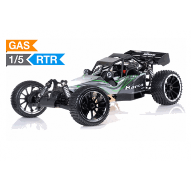 Exceed Barca Buggy 1 5 Scale Gas Powered 32cc Engine 2 4ghz Green Rtr
