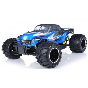 Exceed Hannibal Monster Truck 1/5th Giant Scale 32cc Gas-Engine 2.4Ghz - AA Blue - RTR