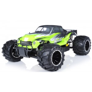 Exceed Hannibal Monster Truck 1/5th Giant Scale 32cc Gas-Engine - AA Green - ARTR