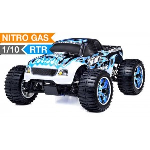 Exceed Infinitive Monster Truck 4WD 1/10 Nitro Gas Powered .18 Engine 2.4Ghz - Fire Blue - RTR