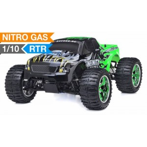 Exceed Infinitive Monster Truck 4WD 1/10 Nitro Gas Powered .18 Engine 2.4Ghz - Sava Green - RTR