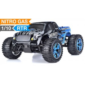 Exceed Infinitive Monster Truck 4WD 1/10 Nitro Gas Powered .18 Engine 2.4Ghz - Sava Blue - RTR