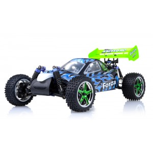Exceed Forza Off Road Buggy 1/10 Nitro Powered 2 Speed .18 Engine 2.4Ghz - Fire Black - RTR