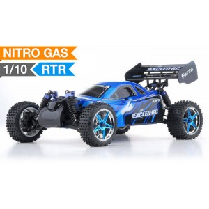 Exceed Forza Off Road Buggy 1/10 Nitro Powered 2 Speed .18 Engine 2.4Ghz - Storm Blue - RTR