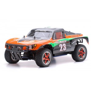 Exceed Short Course Monster Truck 4WD 1/10 Nitro Gas Powered 2-Speed .18 Engine 2.4Ghz - Carbon Orange - RTR