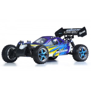 Exceed Forza Off Road Buggy 1/10 Nitro Powered 2-Speed .18 Engine 2.4Ghz - Fire Blue - RTR