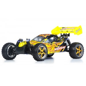 Exceed Forza Off Road Buggy 1/10 Nitro Powered 2 Speed .18 Engine 2.4Ghz - Fire Yellow - RTR