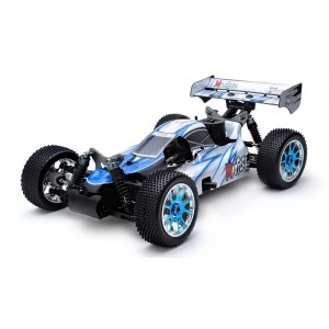 Exceed MadFire Buggy 1/8th Scale Nitro Powered .21 Engine 2.4Ghz - Alpha Blue - RTR
