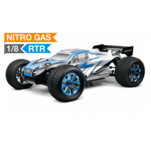 Exceed MadWarrior Truggy 1/8Th Scale Nitro 1-Speed .28 Engine 2.4 Ghz - Alpha Blue - RTR