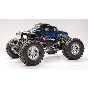 Exceed MadBeast Monster Truck 1/8th Scale Nitro Powered .28 Engine 2.4Ghz - Black/Blue - RTR