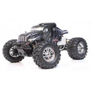 Exceed MadBeast Monster Truck 1/8th Scale Nitro Powered .28 Engine 2.4Ghz - Black/Silver - RTR