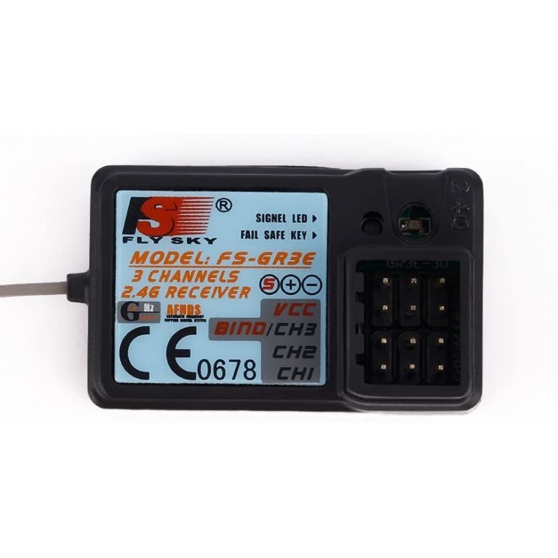 Flysky FS-GR3E 2.4G 3CH Receiver DC 5V for FS-GT2 FS-GT2B FS-GT3B FS-GT3C FZ-IT4S RC Car Boat Transmitter