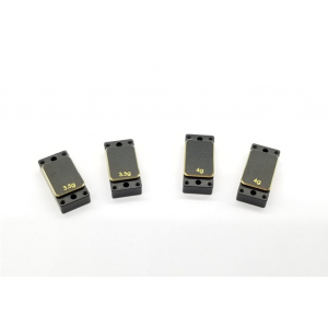 GL Racing Brass Left/Right plates - (3.5gx2pcs & 4.0gx2pcs)