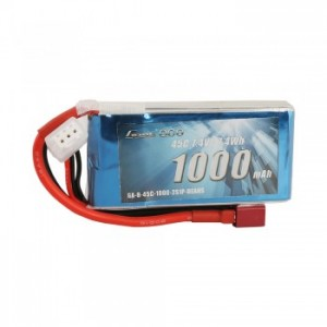 Gens ace 1000mAh 2S 25C Lipo Battery Pack with Deans plug