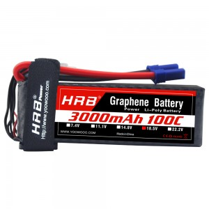 HRB GRAPHENE 5S 3000 18.5V 100C LIPO BATTERY EC5