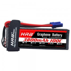 HRB GRAPHENE 5S 3800 18.5V 100C LIPO BATTERY EC5
