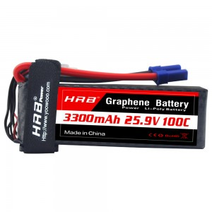 HRB GRAPHENE 7S 3300 25.9V 100C LIPO BATTERY EC5