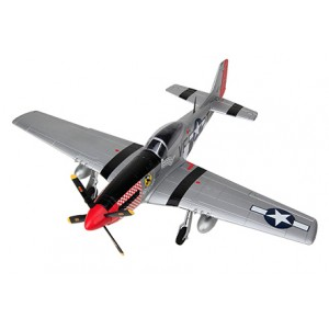 HSDJETS P51D Mustang 800mm Wingspan Silver/Red PNP