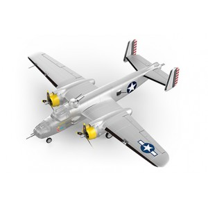 HSDJETS B-25 Bomber 1250mm Wingspan Silver PNP