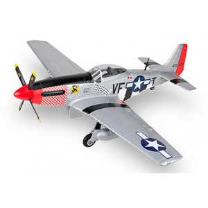 HSDJETS P51D Mustang 1450mm Wingspan Silver/Red PNP