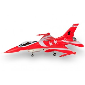 HSDJETS F-16 Foam Turbine Red 1245mm Wingspan