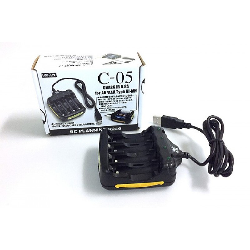 Kyosho DIS - C-05 USB CHARGER 0.8A for AA/AAA Type Ni-MH