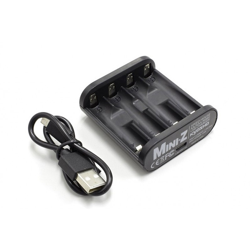 Kyosho 71999 Mini-Z Ni-Mh AA / AAA Speed House USB Battery Charger