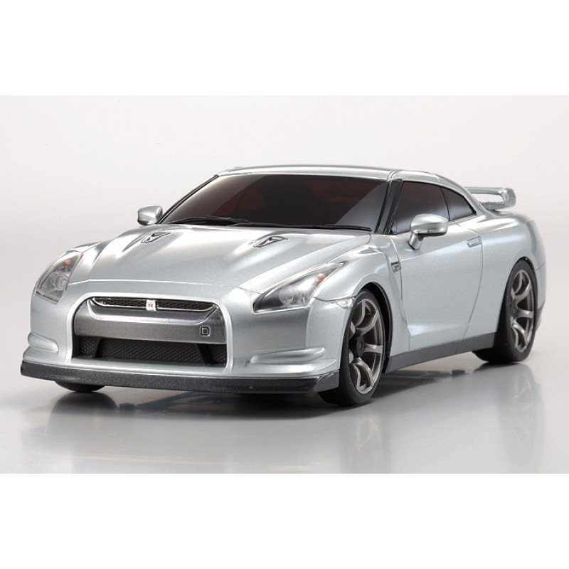 Kyosho 32331S-B MINI-Z RWD MR-03 GT-R (R35) Ultimate Metal Silver Readyset
