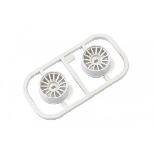 Kyosho MDH100W-W1 Multi Wheel W/Offset 1 (White/AWD/2pcs.)