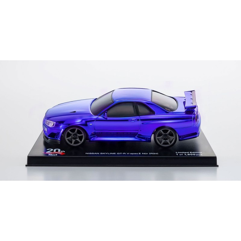 Kyosho MZP427CBL MINI-Z 20th Anniversary Auto scale MA-020 series AWD Sports NISSAN SKYLINE GT-R V・Spec Ⅱ Nur (R34) Chrome Blue Bodyset