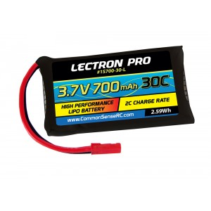 Lectron Pro™ 3.7V 700mAh 30C Lipo Battery with JST Connector for LaTrax Alias Quadcopter