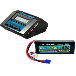 Lectron Pro Power Pack #07 - ACDC-10A Charger + 1 x 11.1V 5200mah 50C w/ EC3 Connector (#3S5200-50E)