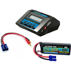 Lectron Pro Power Pack #08 - ACDC-10A Charger + 1 x 11.1V 5200mah 50C w/ EC5 Connector (#3S5200-505)