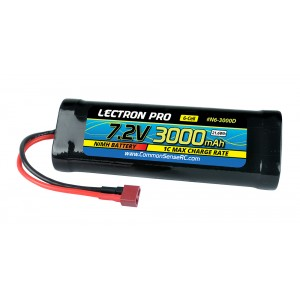 Lectron Pro NiMH 7.2V (6-cell) 3000mAh Flat Pack with Deans-Type Connector