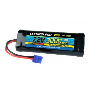 Lectron Pro NiMH 7.2V (6-cell) 3000mAh Flat Pack with EC3 Connector