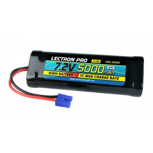 Lectron Pro NiMH 7.2V (6-cell) 5000mAh Flat Pack with EC3 Connector
