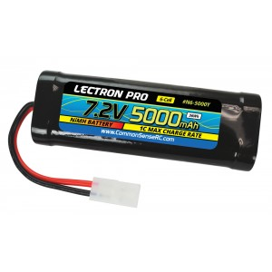 Lectron Pro NiMH 7.2V (6-cell) 5000mAh Flat Pack with Tamiya Connector