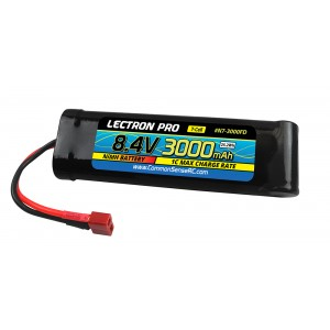Lectron Pro NiMH 8.4V (7-cell) 3000mAh Flat Pack with Deans-Type Connector