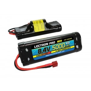 Lectron Pro NiMH 8.4V (7-cell) 5000mAh Hump Pack with Deans-Type Connector