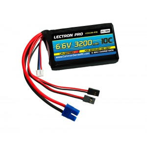 Lectron Pro 6.6V 3200mAh LiFe Receiver Battery with EC3 Connector