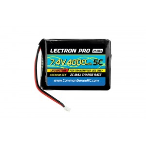 Lectron Pro 7.4V 4000mAh Lipo TX Battery for the Spektrum DX7S, DX8, and DX9