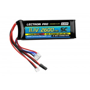 Lectron Pro Transmitter Battery Pack - 11.1V 2600mah for TX-Futaba, Hi-Tec, Airtronics, JR, & Spektrum DX7