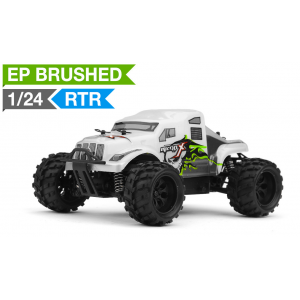 MicroX Racing 1/24 Micro Scale Monster Truck Ready to Run 2.4ghz (White)