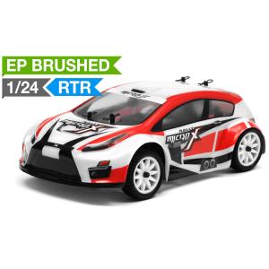 MicroX Racing 1/24 Micro Scale Rally Car Ready to Run 2.4ghz (Red) RC Remote Control Radio Car